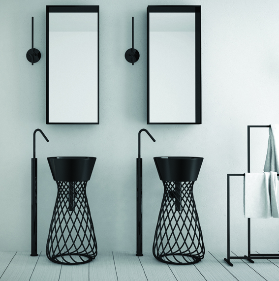 spectaculaire le lavabo totem. Black Bedroom Furniture Sets. Home Design Ideas