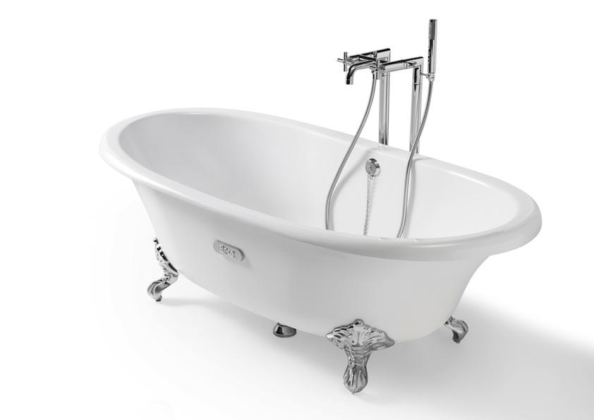 La baignoire r tro une valeur s re for Peindre une baignoire en fonte emaillee