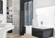 baignoire douche à porte