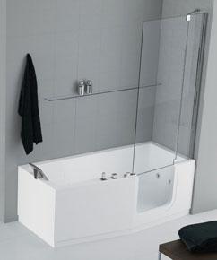 Iris de novellini design bien quip e styles de bain for Se doucher dans une baignoire