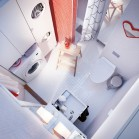 mini salle de bains avec buanderie
