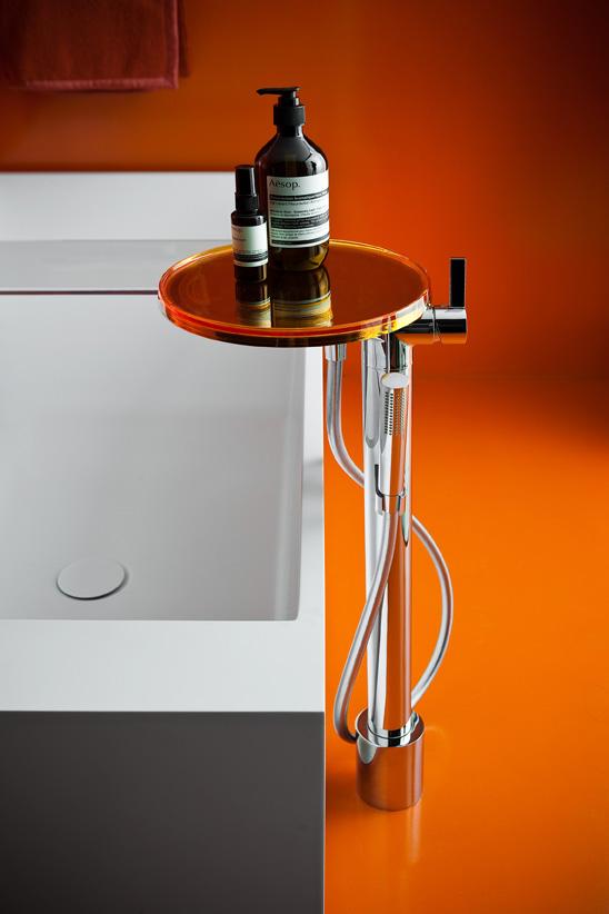 Sympa la robinetterie tag re - Cree un meuble salle de bain en dur ...