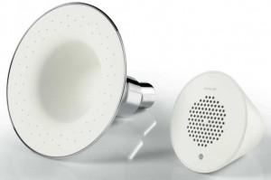 jacob delafon une pomme de douche haut parleur styles de bain. Black Bedroom Furniture Sets. Home Design Ideas