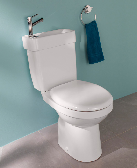 Alliance de lapeyre le wc lave mains sans recyclage - Amenagement wc avec lave mains ...