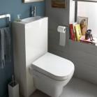 5 W.-C. lave-mains pour gagner de la place aux toilettes