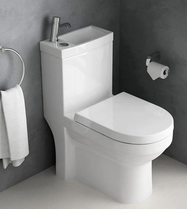 Un wc avec lave-mains intégré