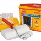 Photo d'un kit pour la réalisation d'un système d'étanchéité liquide