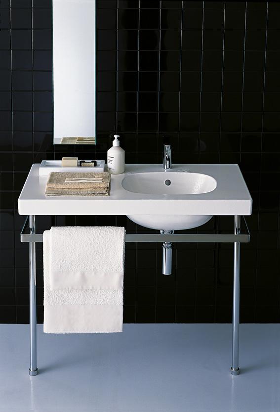 un lavabo sur pi tement ou console m tal ou bois. Black Bedroom Furniture Sets. Home Design Ideas