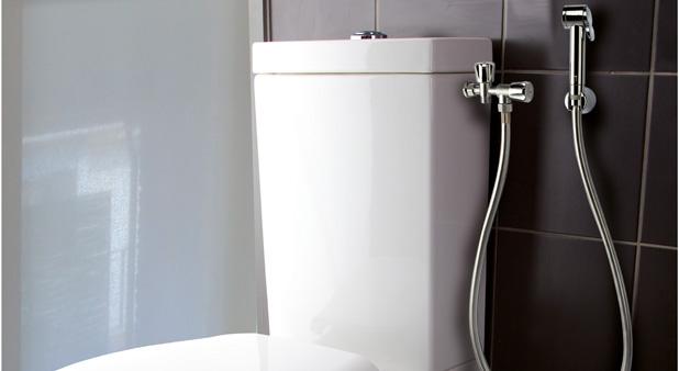 des solutions conomiques pour se laver aux wc. Black Bedroom Furniture Sets. Home Design Ideas