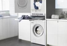 Des meubles pour faire dispara tre le lave linge styles for Lave linge dans salle de bain norme
