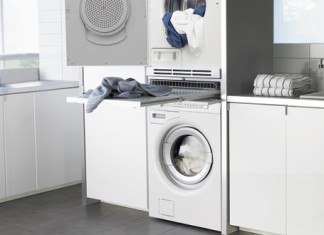 Agencer une salle de bains avec une buanderie l styles de bain - Integrer machine a laver dans salle de bain ...