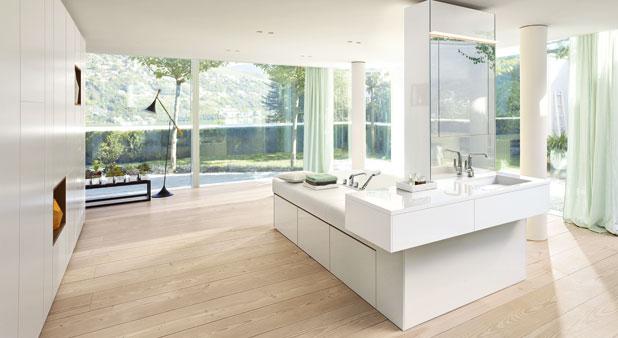 La salle de bains lot tendance et sans limite for Photo salle de bain avec baignoire ilot