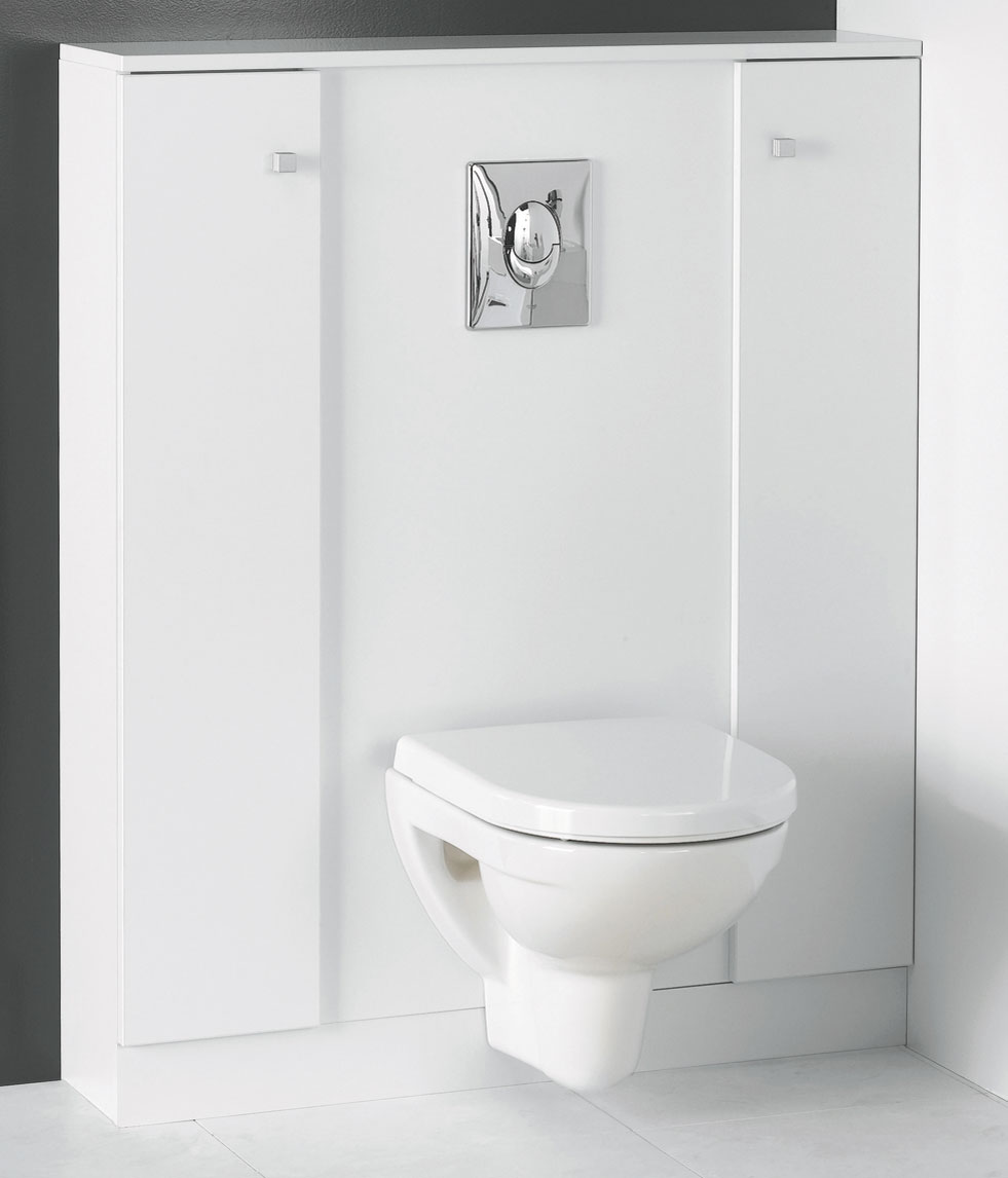 L 39 habillage de b ti support de bloc miroir - Meuble de wc suspendu ...