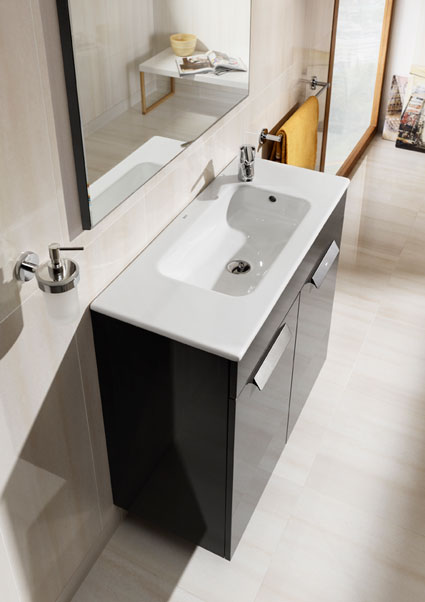 Mini meubles pour mini salle de bains for Prix meuble salle de bain roca