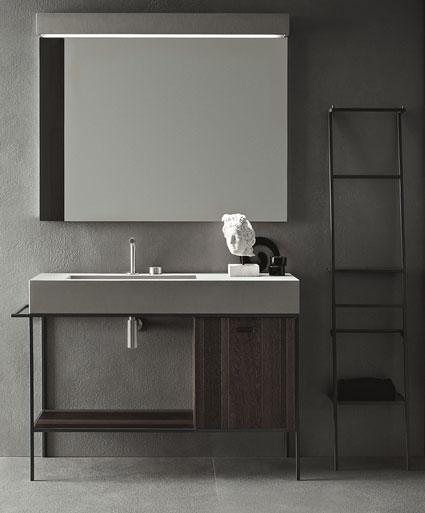 3 sc narios pour une salle de bains min rale i styles de bain Salle de bain rustique industriel