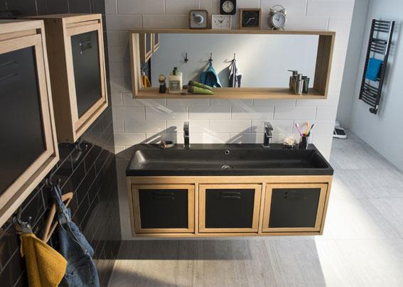 Une salle de bains pour les familles nombreuses i styles - Meuble de salle de bains castorama ...
