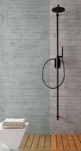 3 belles colonnes de douche i styles de bain - Colonne de douche noire ...