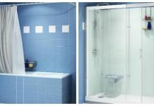 remplacer une baignoire par une douche : avant et après