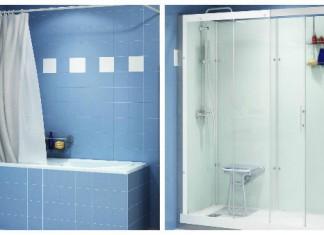 Avant, la baignoire, après la douche