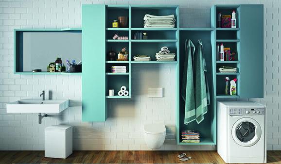 Des meubles pour faire dispara tre le lave linge styles - Meuble pour lave linge et seche linge ...