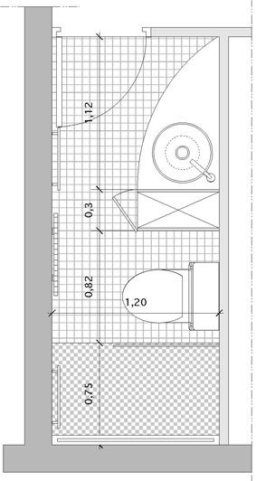 Un rangement pour s parer point d 39 eau et w c - Salle de bain dans un couloir ...