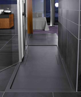 receveurs de douche en solid surface