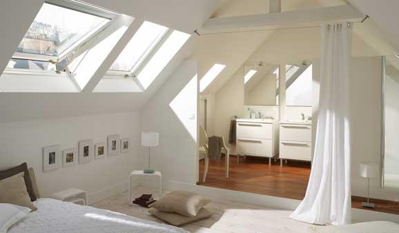 4 conseils pour associer chambre et salle de bains i - Chambre avec salle de bain ouverte ...