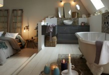 Exemple d'utilisation du carrelage dans la salle de bain