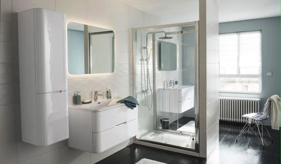 6 conseils pour r ussir une salle de bains familiale - Castorama salle de bain meuble ...
