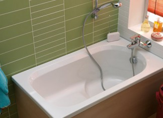 petite baignoire de 120 cm de longueur