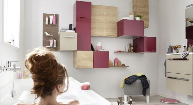 Cubes et casiers pour ranger la salle de bains i styles de - Leroy merlin rangement salle de bain ...