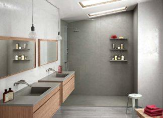 Ambiance de salle de bain avec des panneaux muraux d'habillage