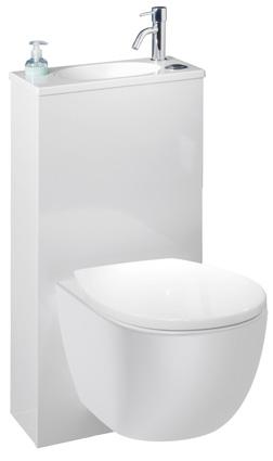 WC suspendu avec lave-main intégré