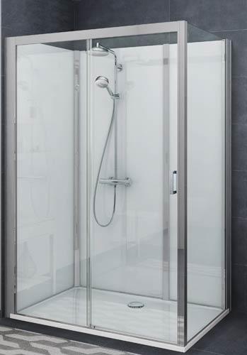 Gros plan sur la cabine de douche Vinata de Roth