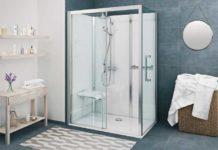 Salle de bains avec une cabine de douche Vinata de Roth