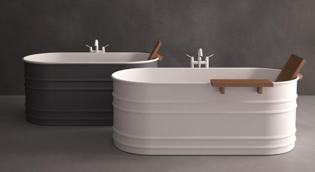 Des baignoires lots adapt es aux petites salles de bains for Petite salle de bain baignoire ilot