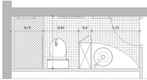 Un rangement pour s parer point d 39 eau et w c - Plan salle de bain avec wc ...