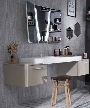 Pourquoi pas une vraie coiffeuse dans la salle de bains for Coiffeuse de salle de bain