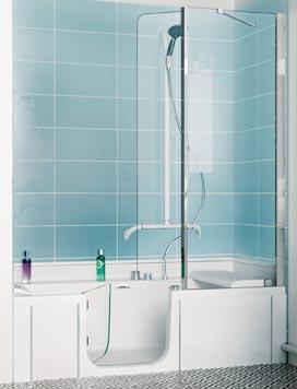 Duo de kinedo une baignoire douche pour toute la famille for Baignoire douche porte