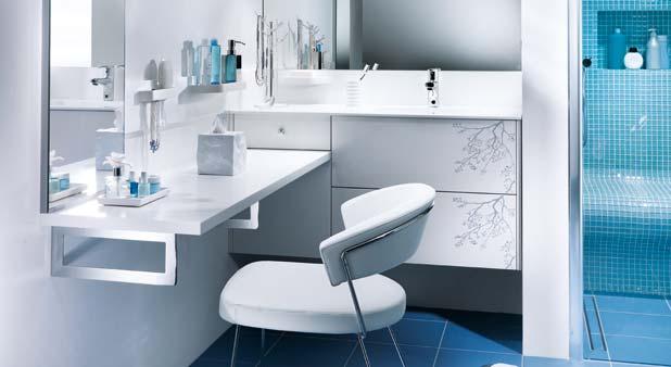 Installer sa coiffeuse sur le mur de la salle de bains for Coiffeuse de salle de bain