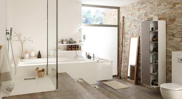 Une estrade pour mieux int grer une baignoire encastr e - Salle de bains complete ...