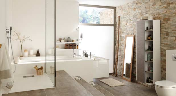 Une estrade pour mieux int grer une baignoire encastr e - Estrade salle de bain ...