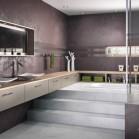 Dans la salle de bains une estrade cache les canalisations - Modifier salle de bain ...
