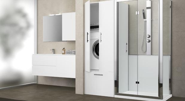 remplacer sa baignoire par une douche et une buanderie. Black Bedroom Furniture Sets. Home Design Ideas