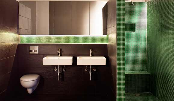 Beautiful Mosaique Salle De Bain Vert Pictures - House Design ...