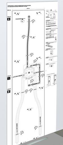 easy bloc de lazer la robinetterie de douche devient facile encastrer. Black Bedroom Furniture Sets. Home Design Ideas