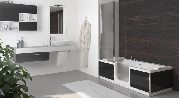 Saniduo de sfa esth tique et ergonomie styles de bain - Baignoire et douche cote a cote ...