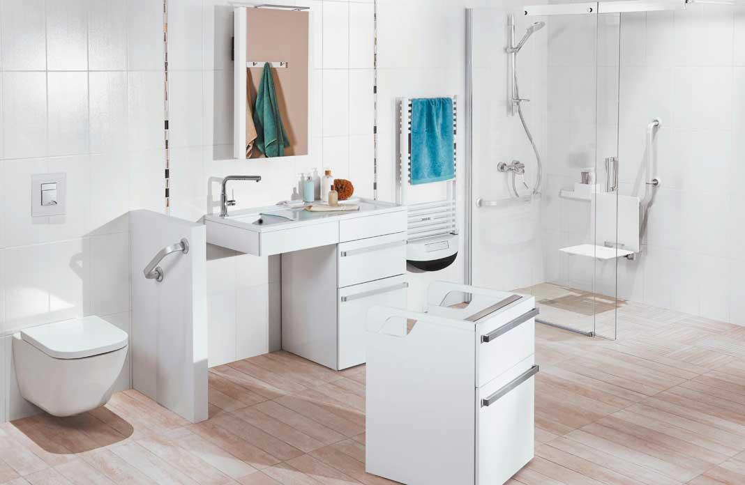 Un meuble de salle de bains pour les personnes g es for Meuble salle de bain italienne