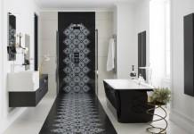 Salle de bains : raffinement en noir et blanc