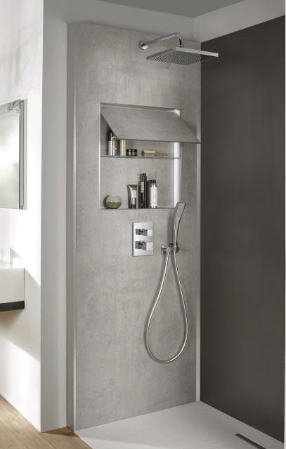 Ecrin de jacob delafon un mur technique dans la douche - Robinetterie jacob delafon salle de bain ...